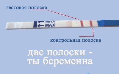 Как выглядит тест на беременность если беременна
